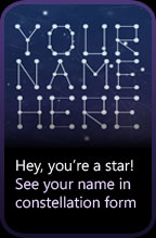 Your name in the stars